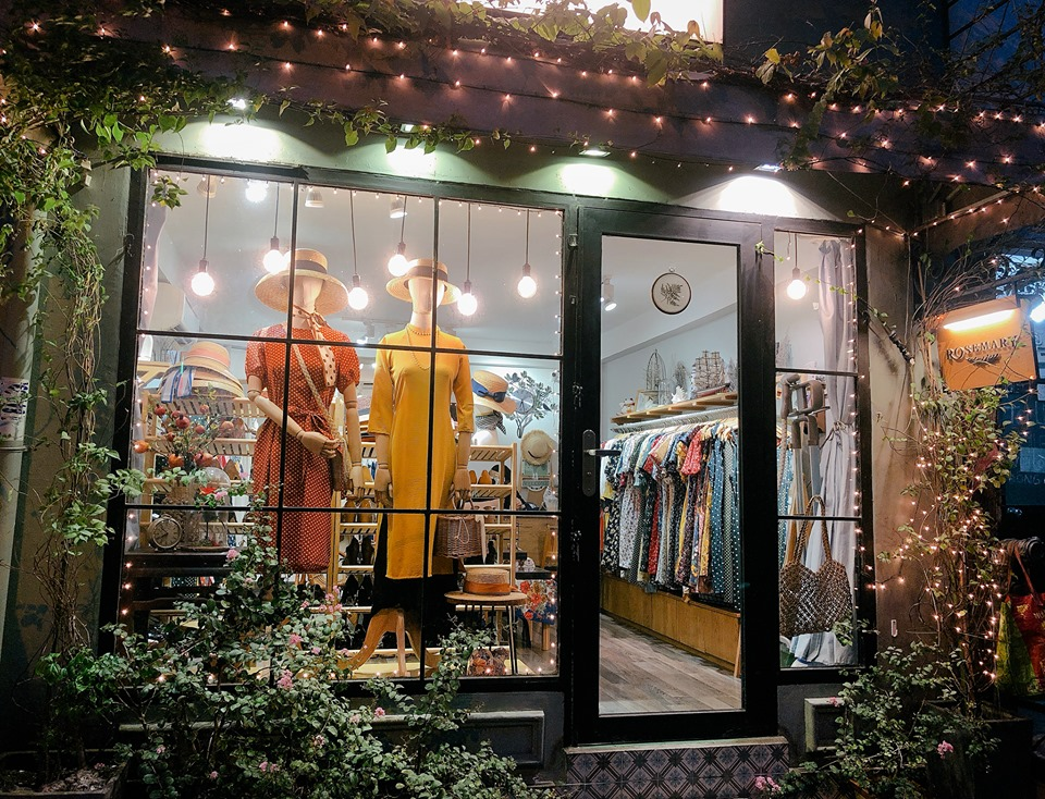 Thiết kế shop thời trang theo phong cách Vintage