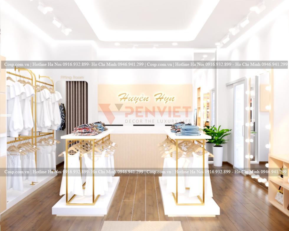 Thiết kế shop thời trang nữ Huyền Hyn