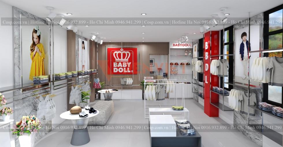 Thiết kế cửa hàng thời trang trẻ em