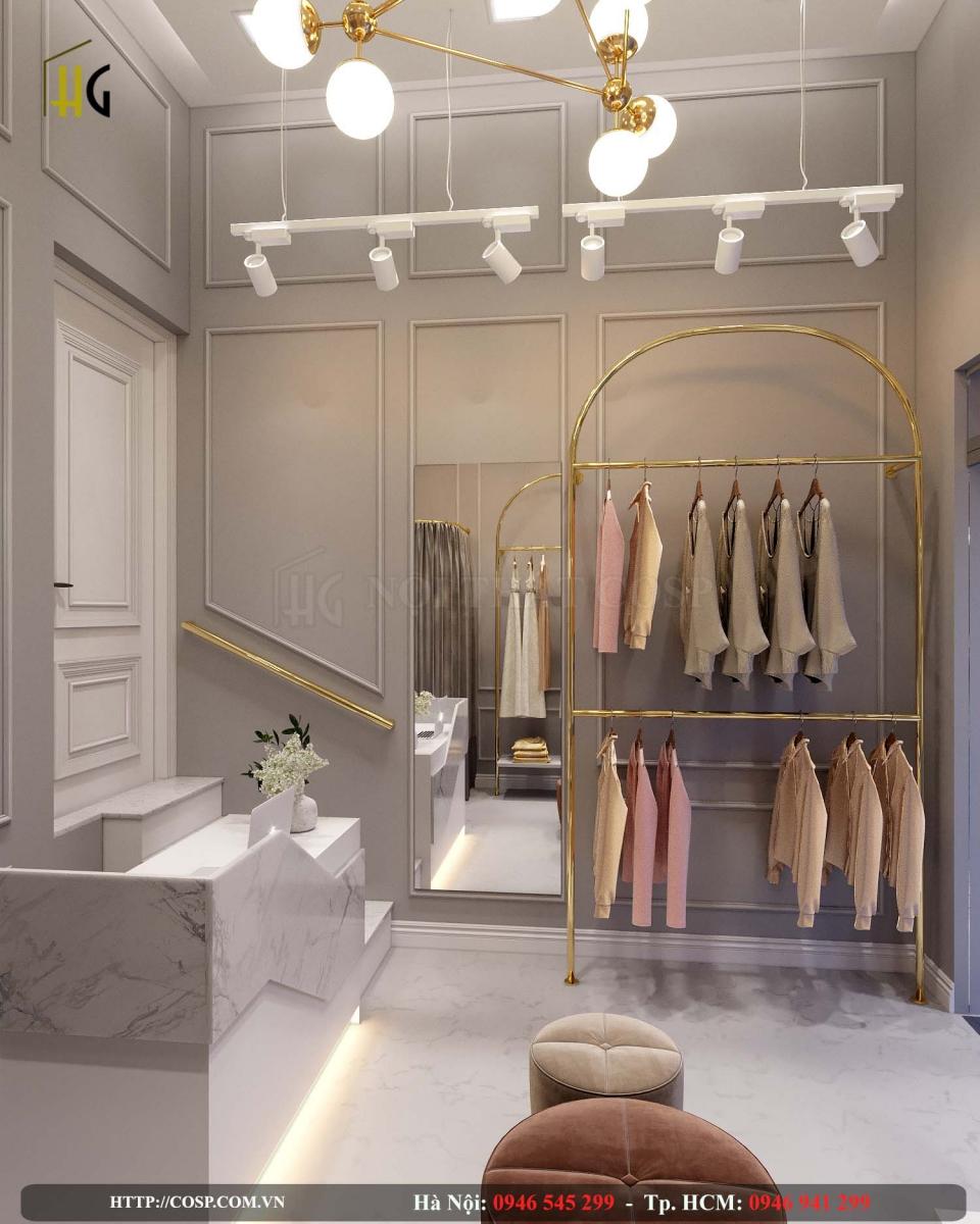 thiết kế shop thời trang có diện tích nhỏ