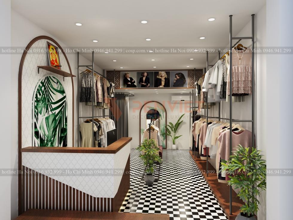 Thiết kế shop thời trang Lụa Là sang trọng