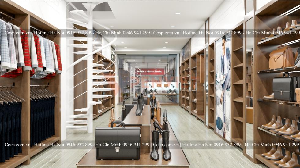 Thiết kế shop thời trang pierre Cardin 47 Quang Trung
