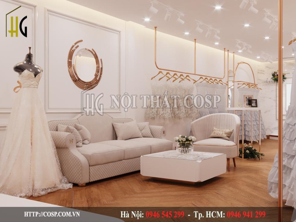 Chọn nội thất hiện đại và các loại chất liệu phổ thông cho cửa hàng