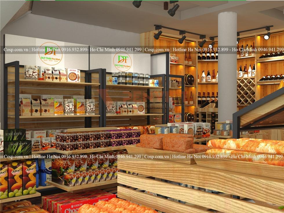 Vân gỗ tự nhiên có tính thẩm mỹ cao, phù hợp với nhiều ý tưởng thiết kế shop