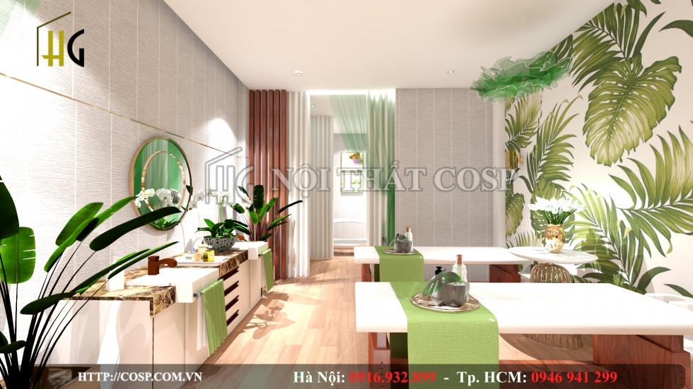 Hình ảnh thiết kế 3D spa mini tại nhà