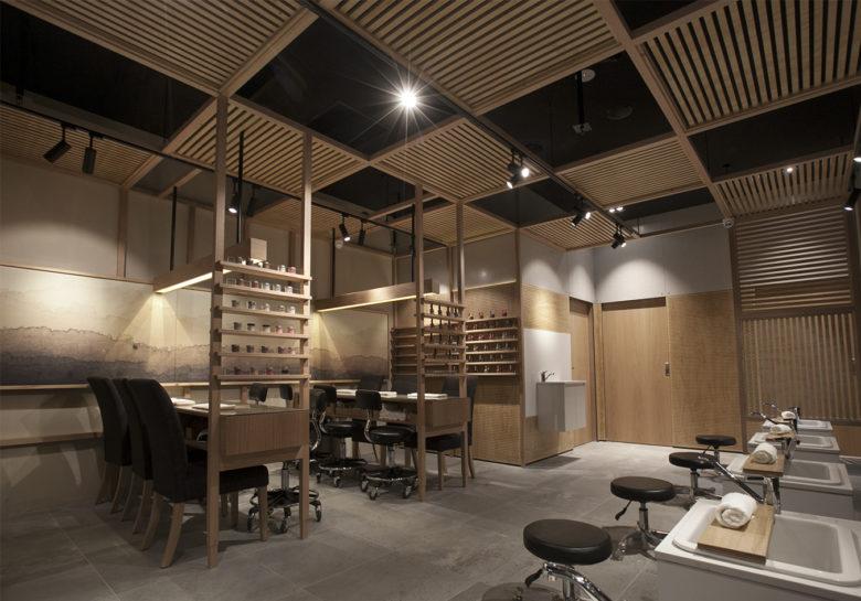 Thiết kế spa kết hợp kinh doanh làm móng phong cách RUSTIC