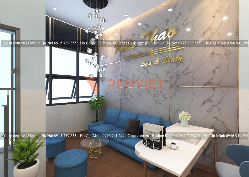 Thiết kế nội thất spa Kiều Thảo- chị Ni