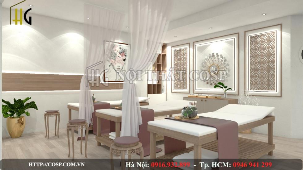 Thiết kế nội thất spa Lux tại Nha Trang