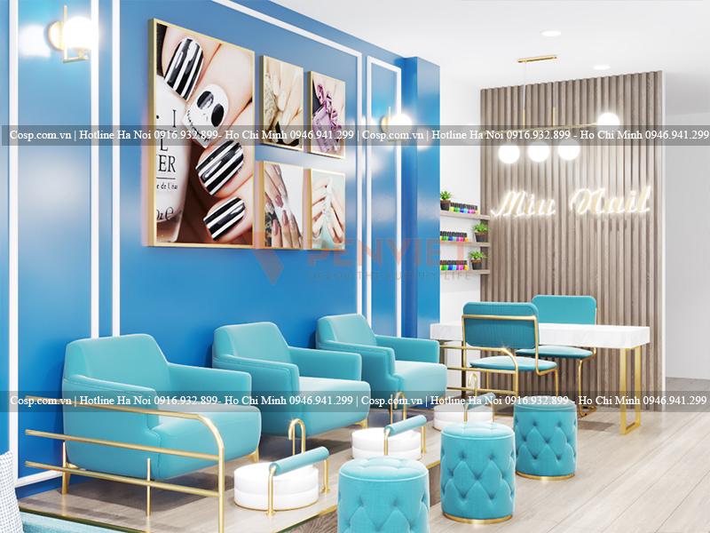Thiết kế tiệm nails Miu Nail - Đặng Văn Ngữ