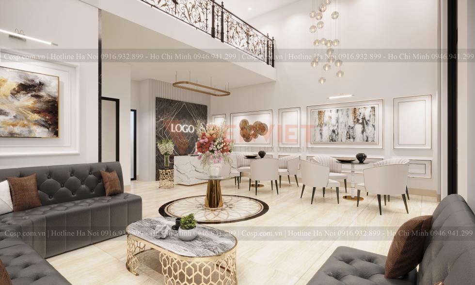 Thiết kế phòng khách spa Tuan spa