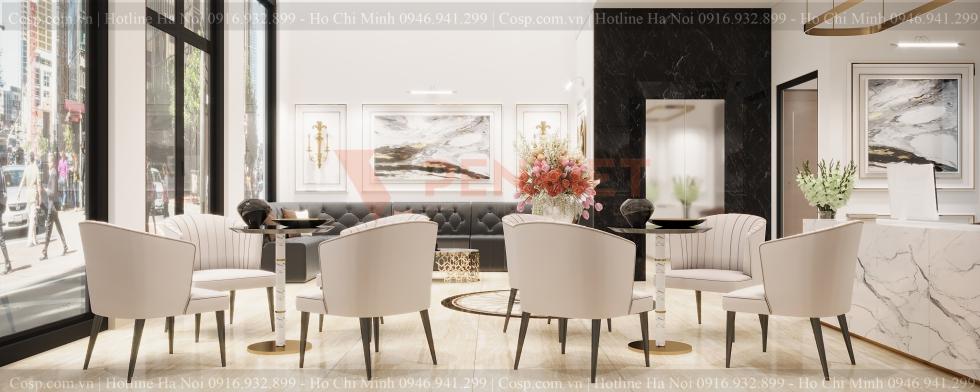 Thiết kế phòng khách spa Tuan'a spa