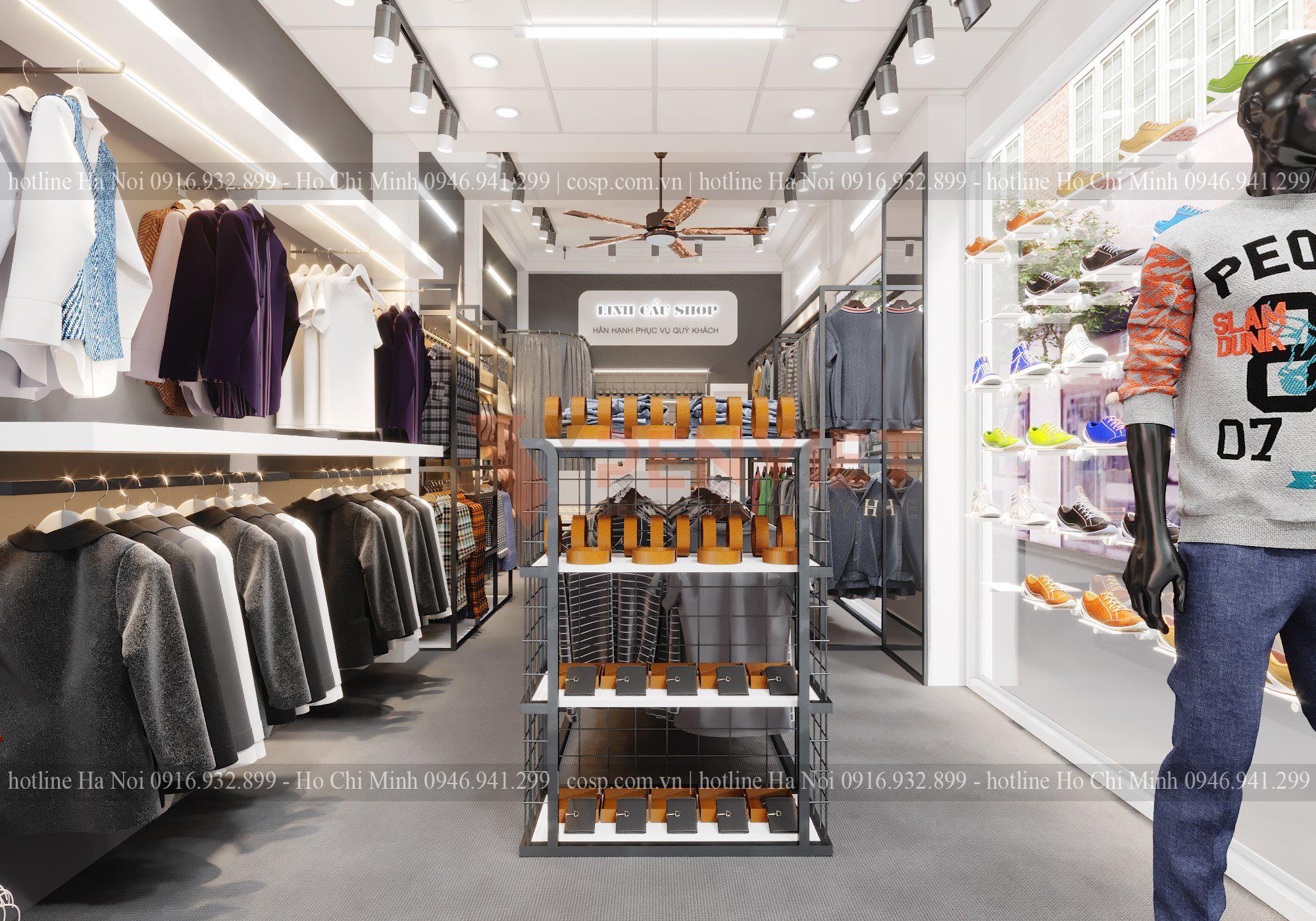 Một mẫu thiết kế cửa hàng thời trang tại Hà Nội hiện đại, cuốn hút