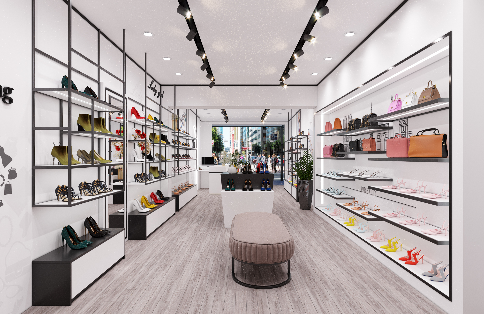 Thiết kế Shop Giày - Túi xách tại Hải Phòng
