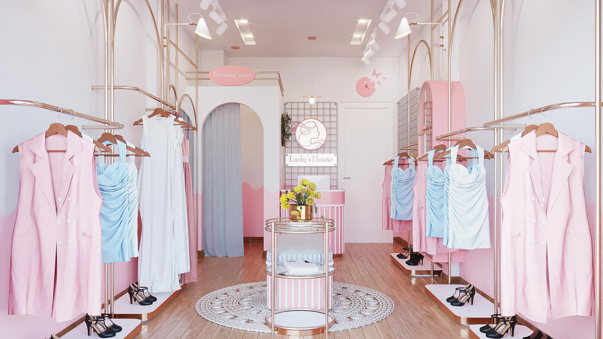 Thiết Kế Shop Thời Trang Lady's House