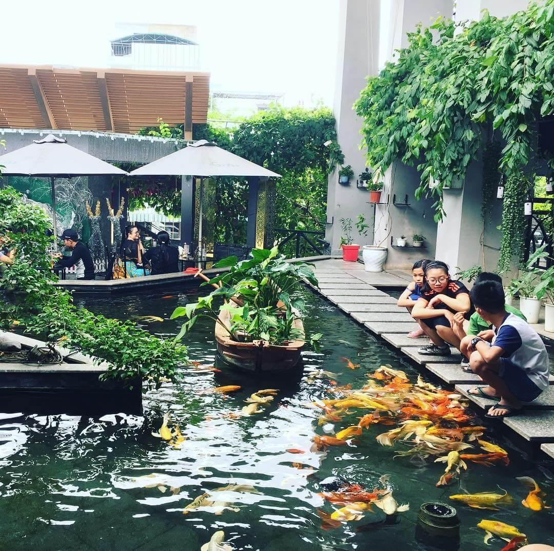 Hòa mình vào thiên nhiên với không gian thoáng đãng của quán cafe
