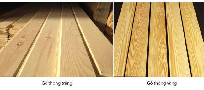 Các loại gỗ thông ghép thanh thường được sử dụng trong ý tưởng thiết kế shop