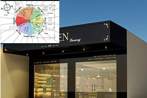 Thiết kế shop cần lưu ý chọn hướng cửa hàng hợp với chủ đầu tư