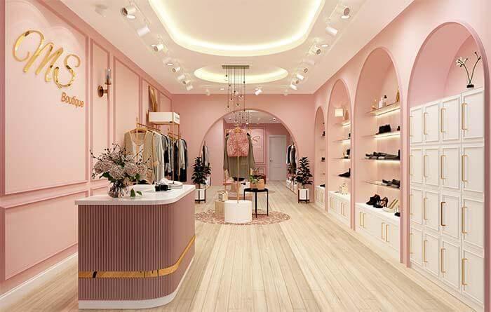Bố trí ánh sáng đầy đủ đảm bảo vận hành cửa hàng và yếu tố phong thủy trong thiết kế shop