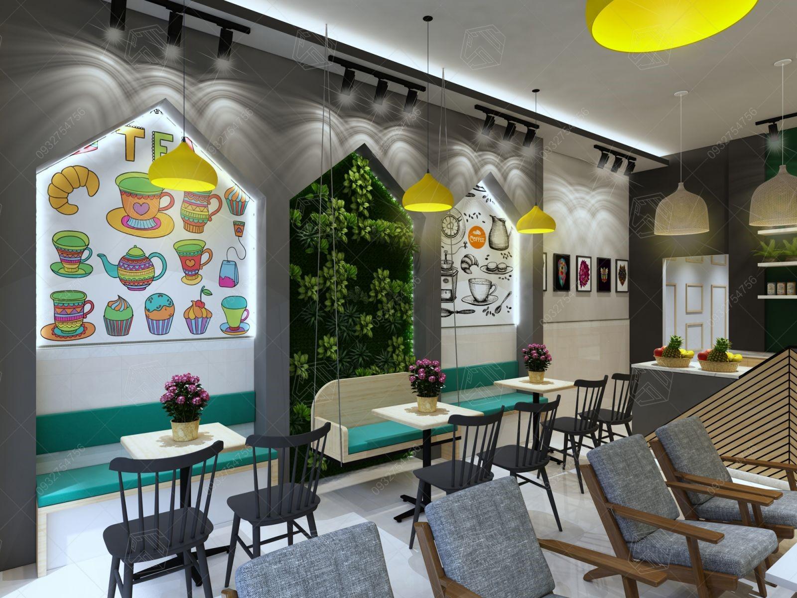 Thiết kế tiệm trà sữa đẹp thu hút khách hàng