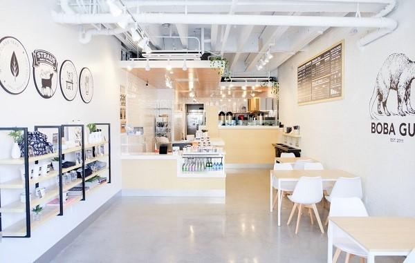 Sự tinh tế thể hiện trong thiết kế nội thất quán trà sữa