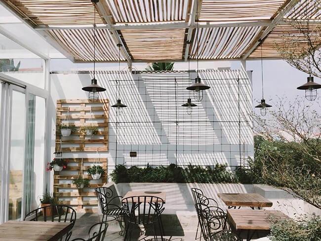 Thiết kế không gian độc đáo trong quán trà sữa