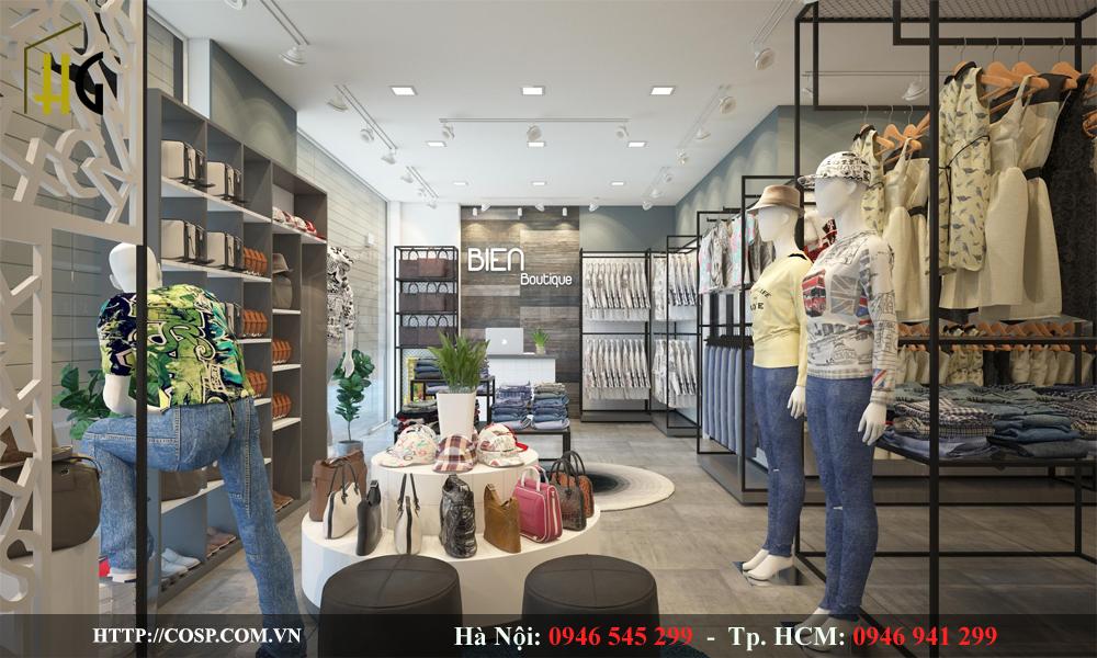 thiết kế shop thời trang đẹp, ấn tượng và thu hút khách hàng