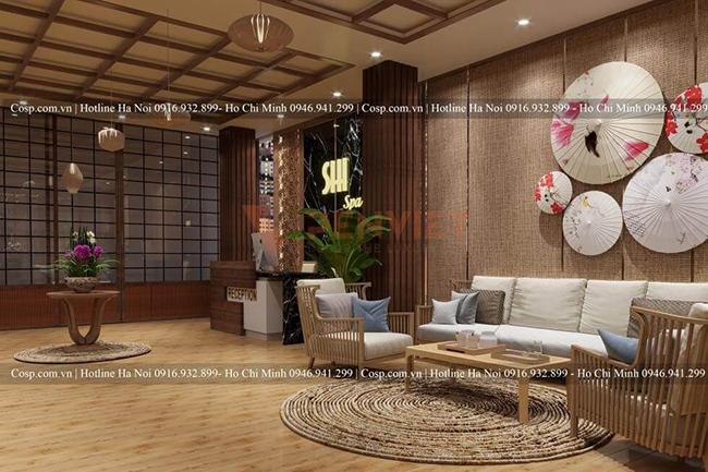 Vật liệu Humble tạo điểm nhấn ấn tượng cho thiết kế spa