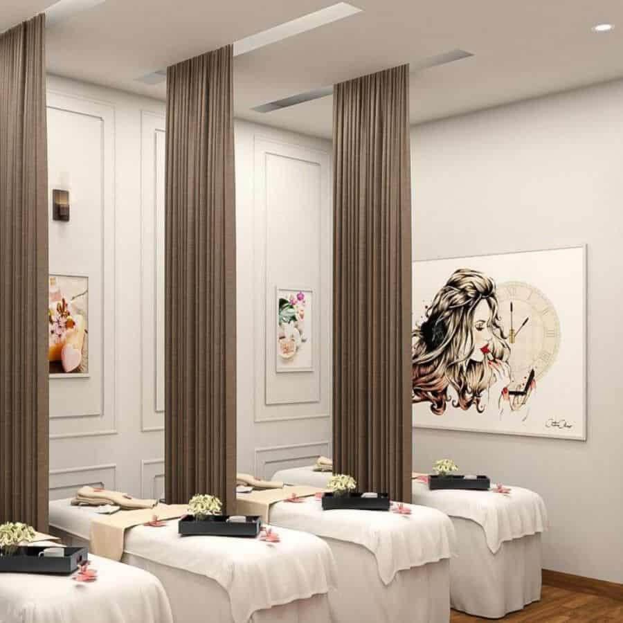 Sự ấn tượng và vẻ đẹp giúp cho thiết kế spa chuyên nghiệp thu hút được khách hàng