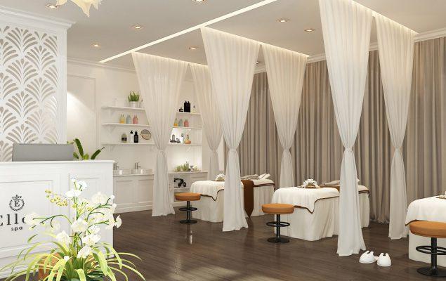 Trang trí nội thất phòng spa đẹp phong cách hiện đại