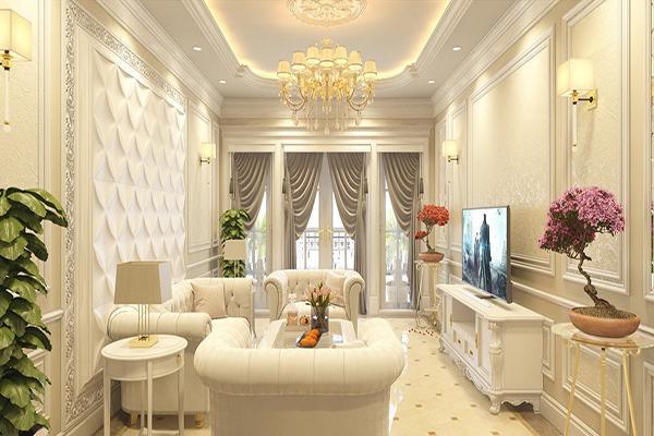 Đường nét tinh tế là đặc trưng trong trang trí nội thất spa đẹp phong cách Tân cổ điển