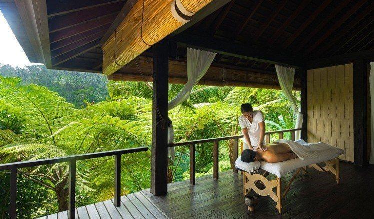 Khung cảnh spa gần gũi thiên nhiên thường thấy tại resort, khu nghỉ dưỡng