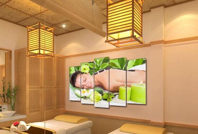 Tạo sự tươi vui cho không gian phòng spa với tranh ảnh