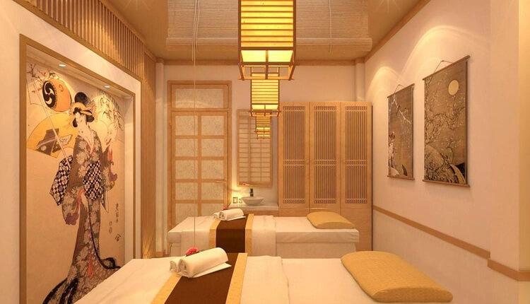 Không cần sử dụng quá nhiều điểm nhấn màu sắc trong trang trí nội thất phòng spa